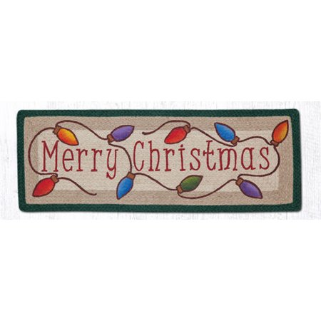 Christmas Runner Rugs.100 Natural Braided Jute Runner Merry Christmas 13 X 36 Earth Rugs