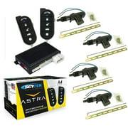 Car Alarm Security 4 Door Locks, Keyless Entry 1-Way Fob Remote Start Scytek A4