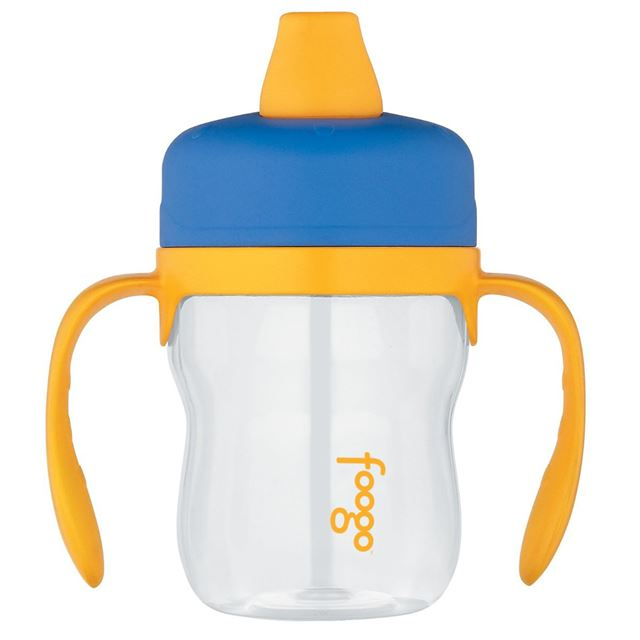 Thermos Foogo Phases Leak Proof Sippy Cup, Blue/Yellow, 8 Ounce Multi-Colored