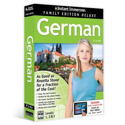 Instant Immersion German  Levels 1  2   3  Family Edition