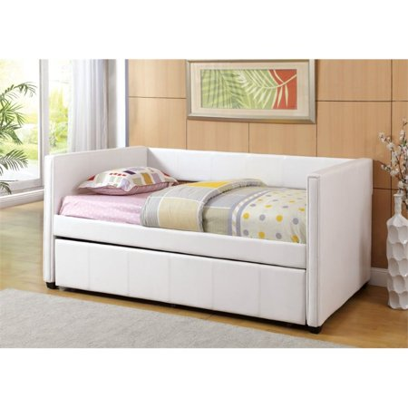 Furniture Of America Barton Platform Daybed With Trundle In White