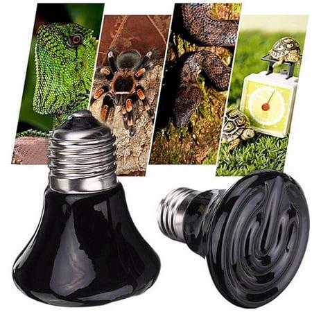 - 75W Reptile Heat Lamp Bulb,White Mini Infrared Ceramic Emitter Heat Lamp Light Bulb Reptile Pet Brooder,110V 60/75mm Led Bulb Lamp Home Decor Lighting Accessories