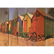 Day Dream HQ CC2216 22 x 16 in. Colored Cabanas Inside & Outside Cedar Wall Art