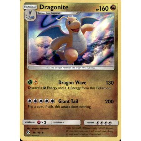 Pokemon Sun & Moon Base Set Dragonite #96