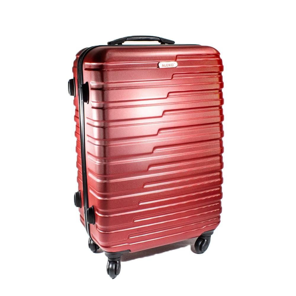 887ebb08e93d ALEKO ABS Hardside Horizontal Stripe 3 Piece Luggage Set with Lock