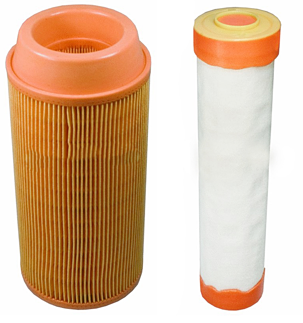 Outer & Inner Air Filter Combo Kubota ZD323 ZD326 ZD331 Zero Turn Lawn Mowers K3181-82240, K3181-82250