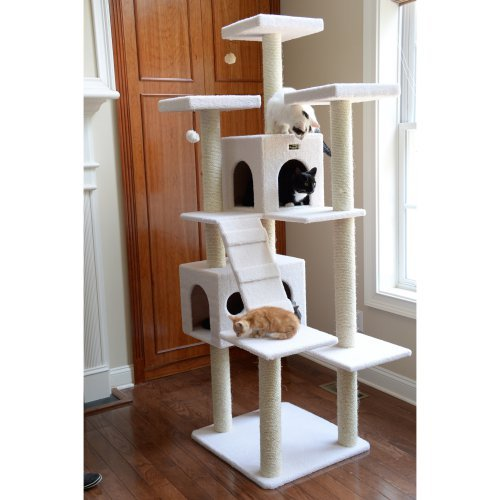Armarkat Classic Cat Tree Model B7701, 77 inch Ivory