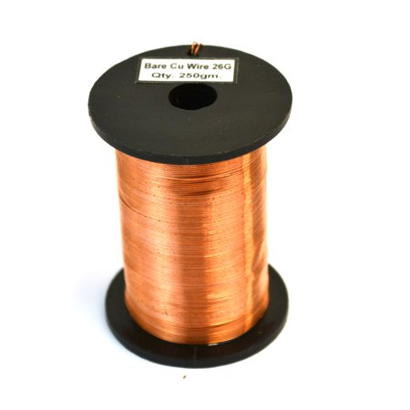 Eisco Labs Copper Wire, Bare, 550ft Reel, 26 SWG (24/25 AWG) - 0.018