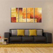 The Lighting Store 'Sunset' Hand-painted Oil on Canvas 4-piece Art Set