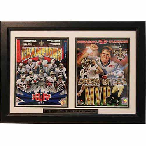 NFL New Orleans Saints Champions 12x18 Double Frame