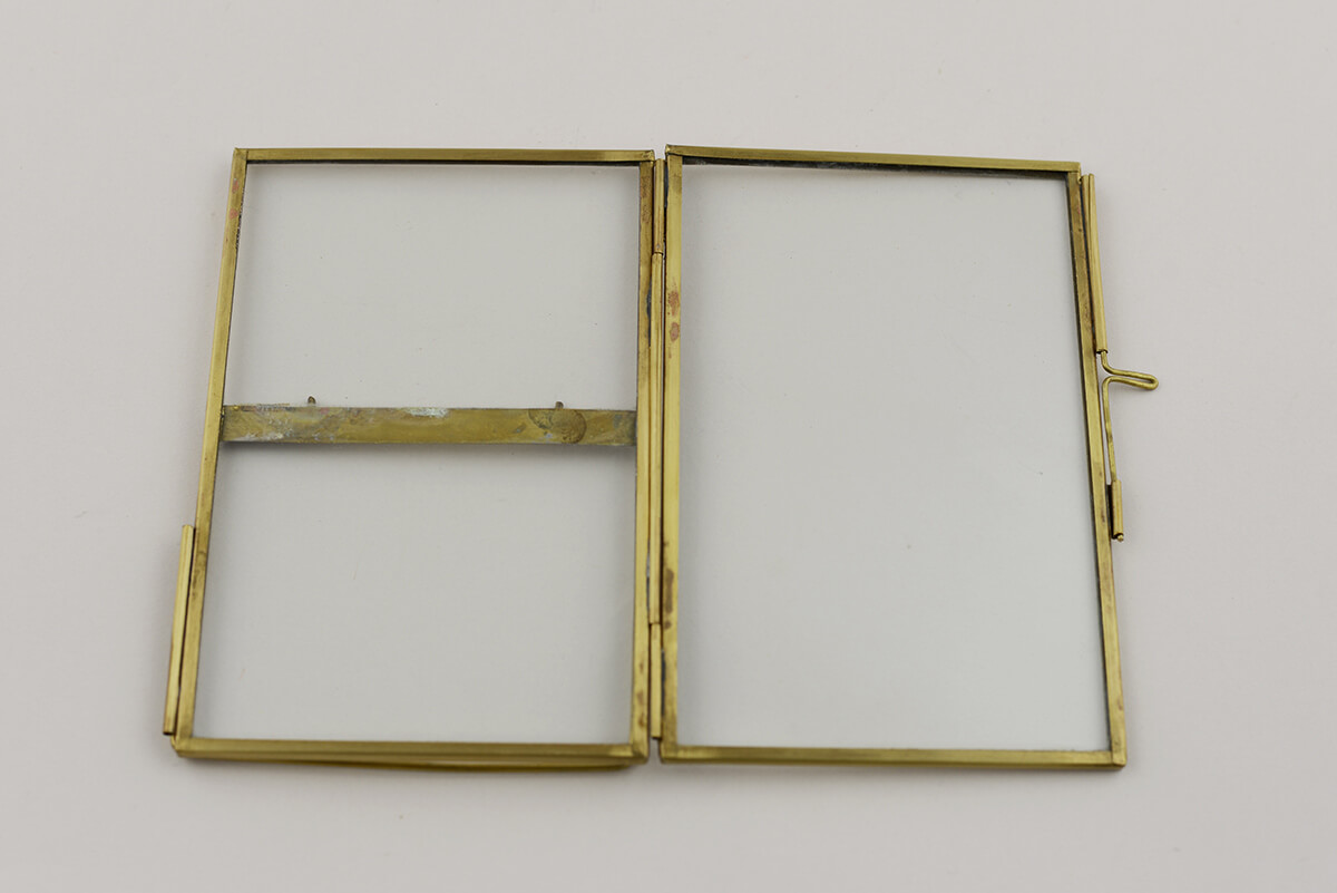 double glass brass glass picture frame 4x6 inch walmartcom - Double Picture Frame