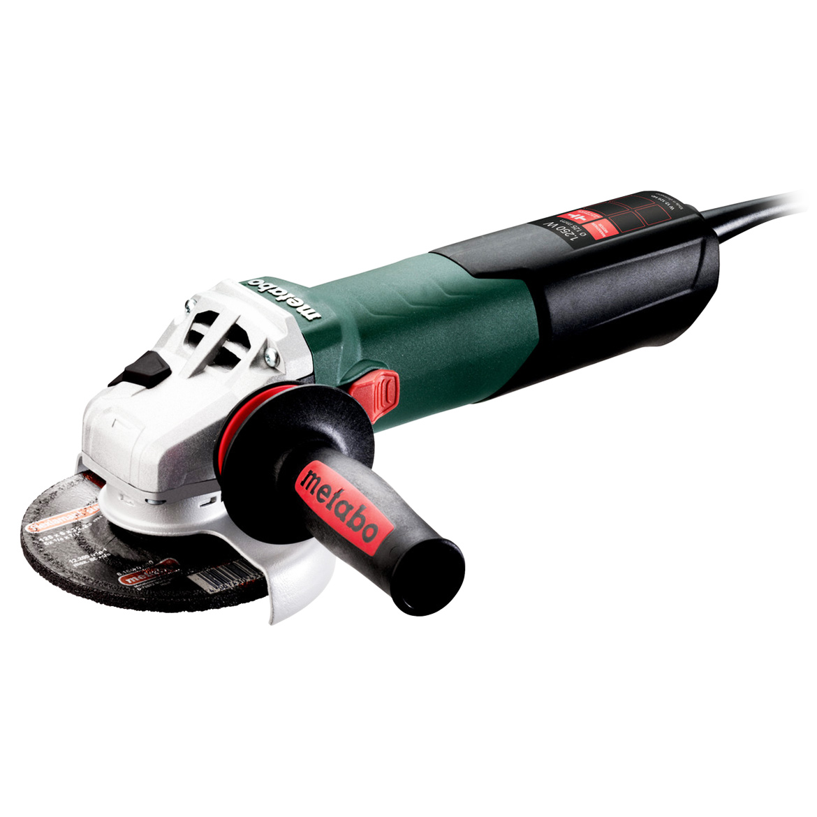 Metabo 600408420 5-Inch 10.5-Amp 9,600 RPM Angle Grinder with Lock-On Switch