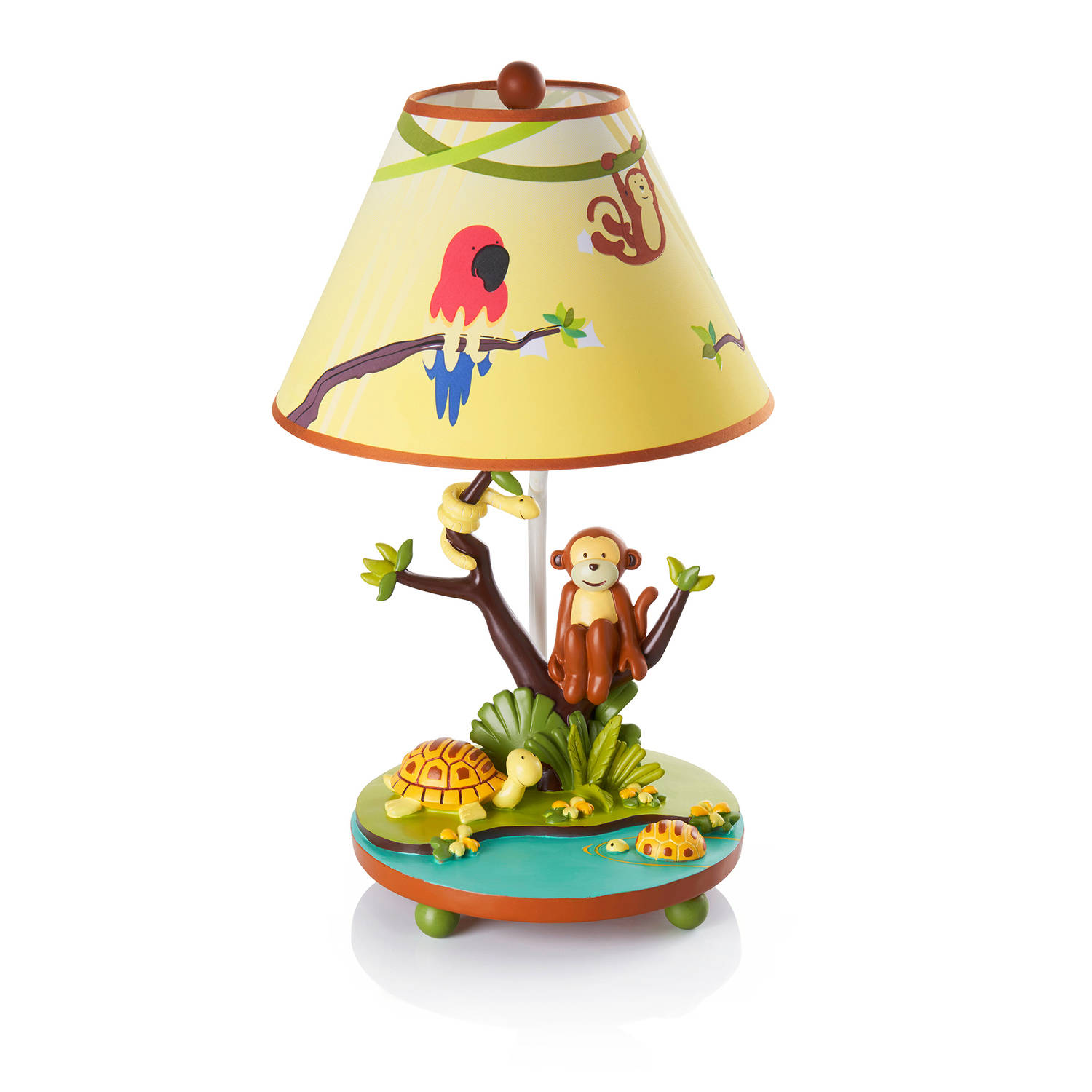 Guidecraft Jungle Party Table Lamp, Green