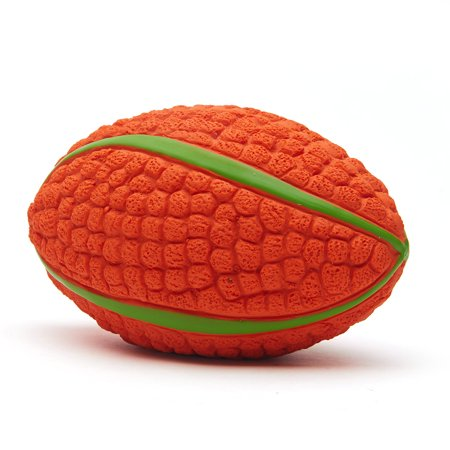 Dog Chewing Ball Rugby Ball Interactive Fetch Non-toxic Durable Chew Bite Toy for Dog Puppy Small Size - image 2 de 7