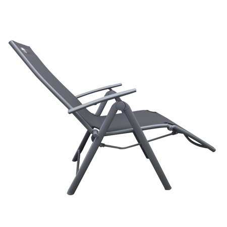 Moustache Garden Chaise Lounge chair Zero Gravity Camping Relax Chair , Heavy-Duty Rocking Reclining Chair Lounge Seat, Gray - 1/Pack - image 6 of 7