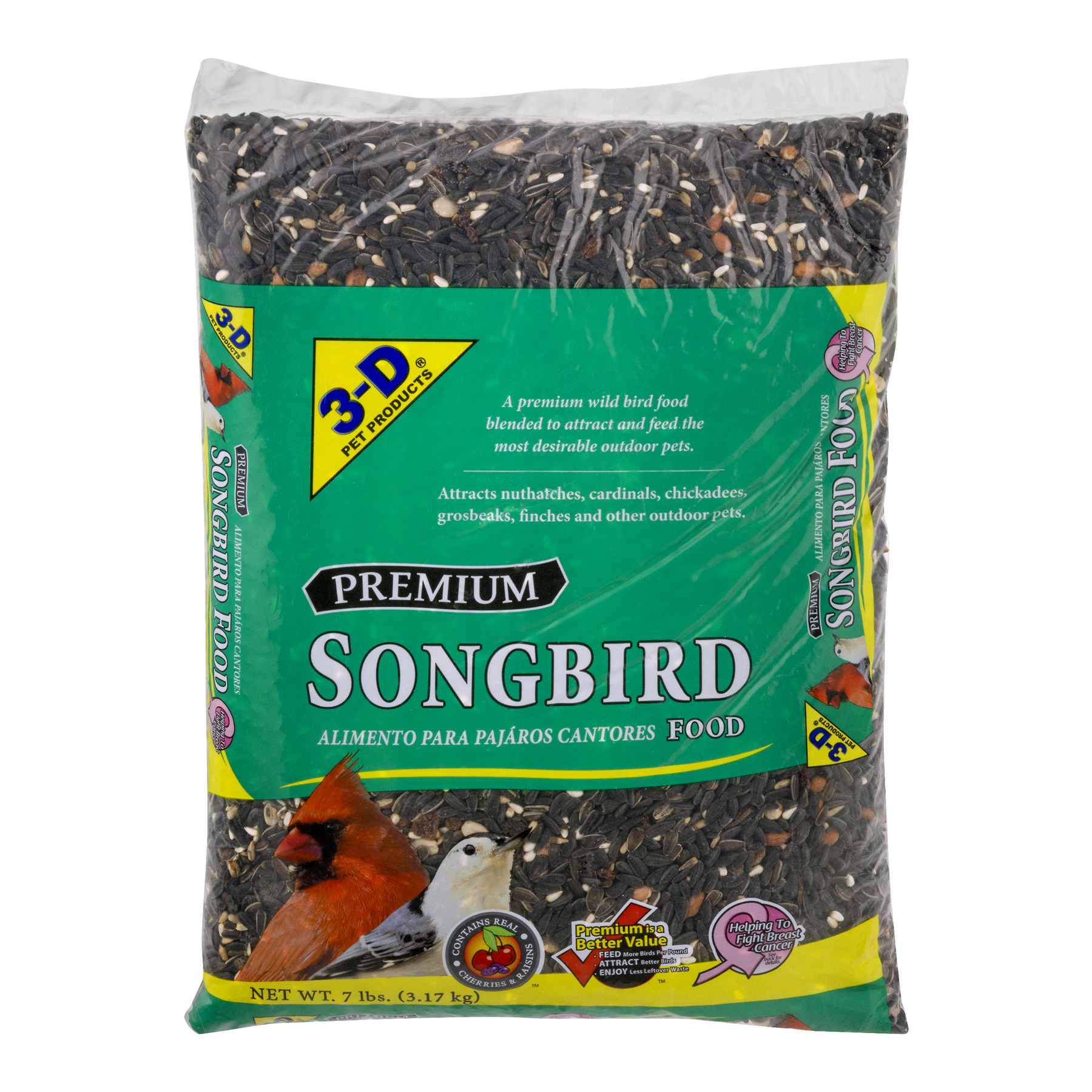 3-D Pet Products Premium Songbird Food Dry Bird Food, 7 LB