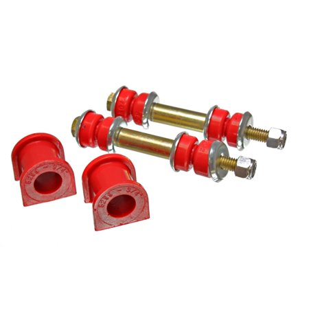 Energy Suspension 90-96 Ford Escort/ZX2 Red 3/4in Rear Sway Bar Bushing Set (Inc Endlink Bushings)