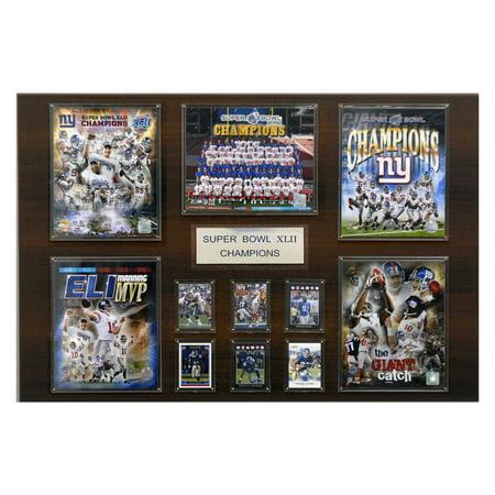 C&I Collectables NFL 24x36 New York Giants Super Bowl XLII Champions Plaque