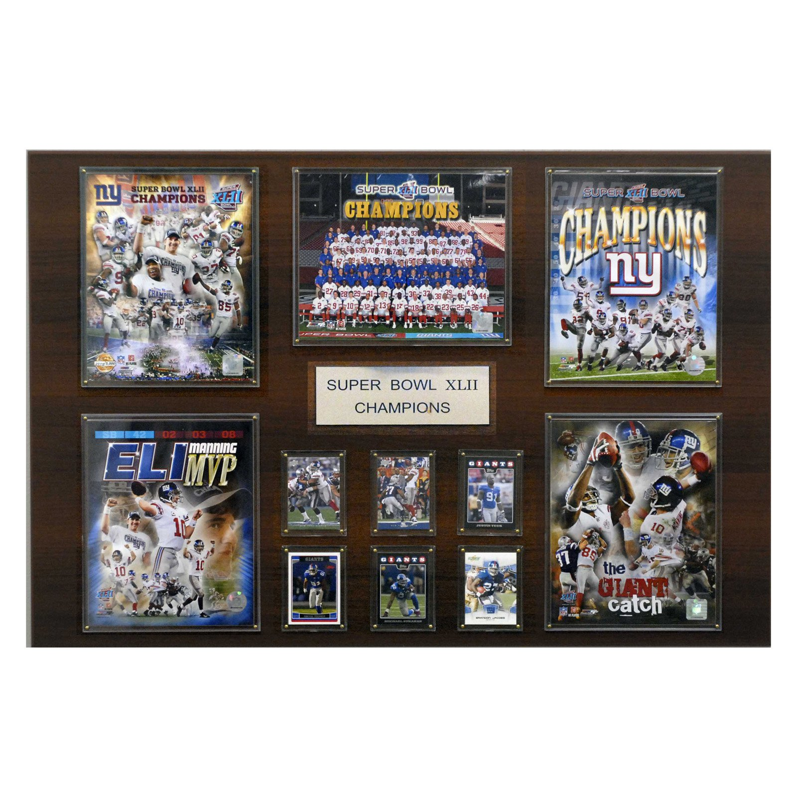 C&I Collectables NFL 24x36 New York Giants Super Bowl XLII Champions Plaque