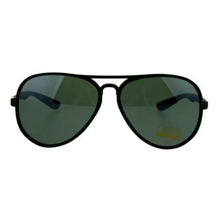 Mens Classic Racer (Classic Mens Thin Plastic Racer Pilot Sunglasses Black Green)