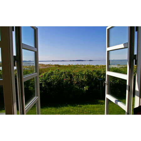 Canvas Print Outlook Window View Nature Blue Sky Hell Stretched Canvas 10 x