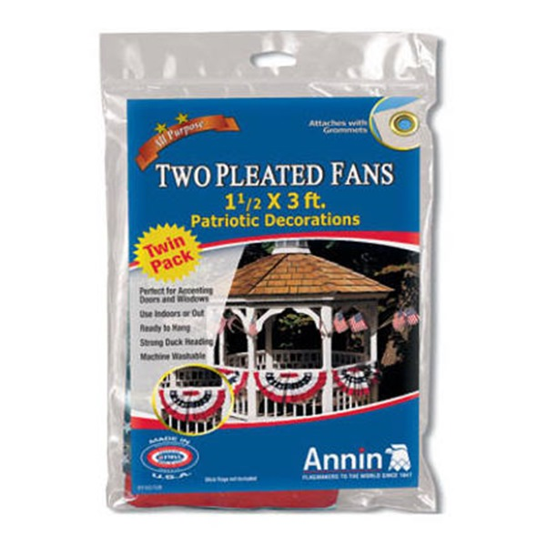 2Pk Patriotic Pleat Fan
