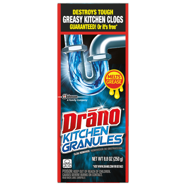 Drano Kitchen Granules Clog Remover, 8.8 oz - Walmart.com