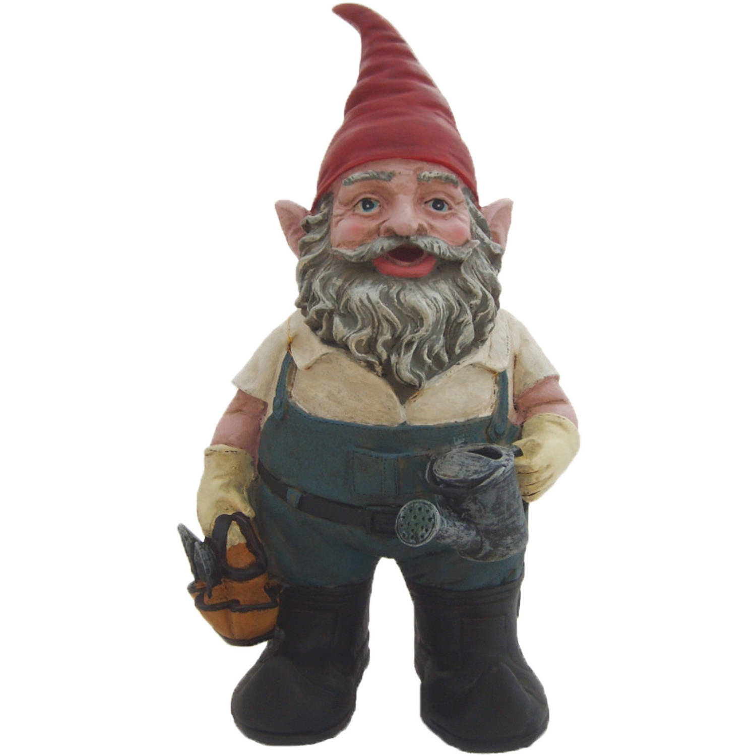 """Nowaday Gnomes """"Gardener the Gnome"""" Garden Gnome Gardener Holding a Watering Can and Garden Tool Bag... by GSIHomeStyles"""