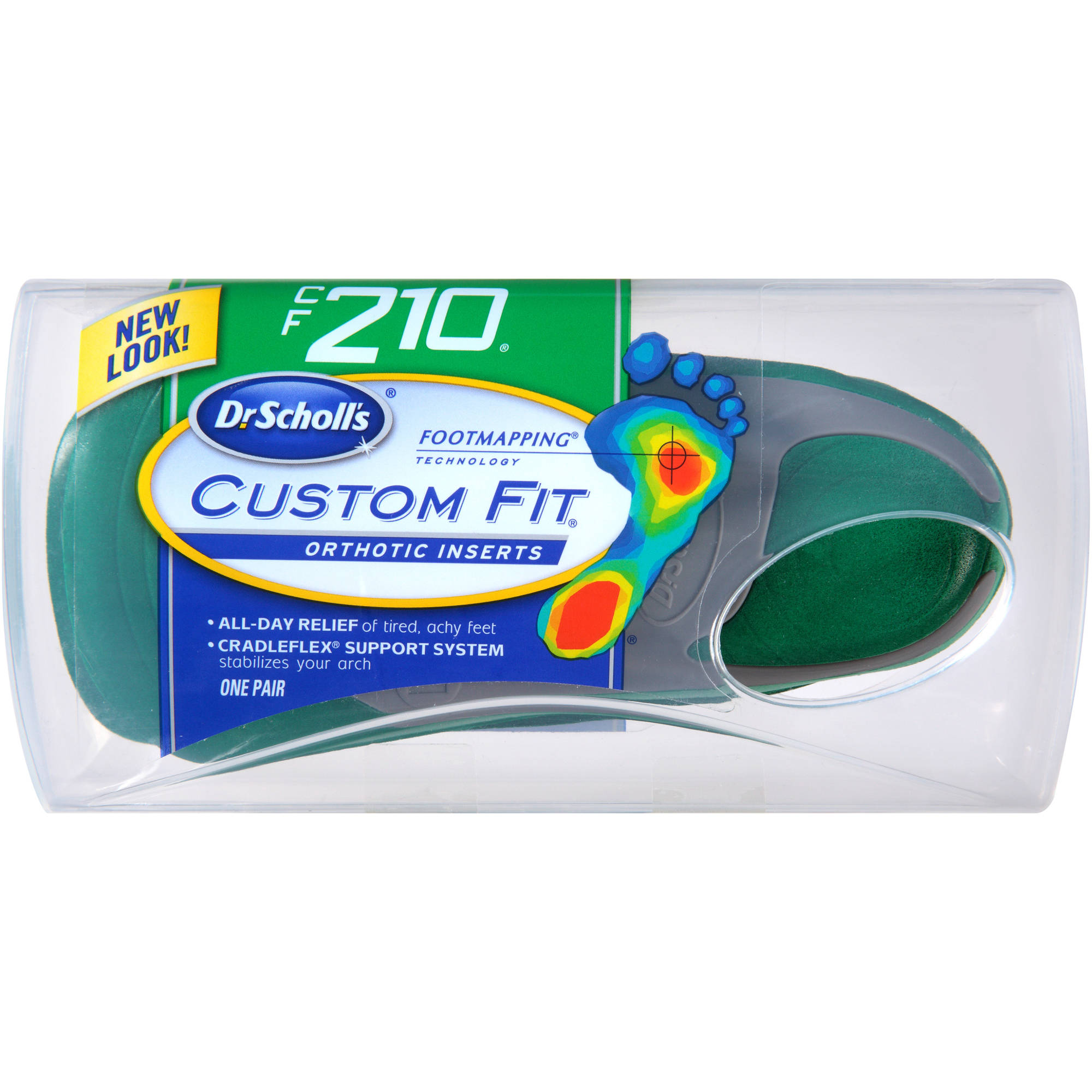 Dr. Scholl's Custom Fit CF210 Orthotic Inserts, 1 pr