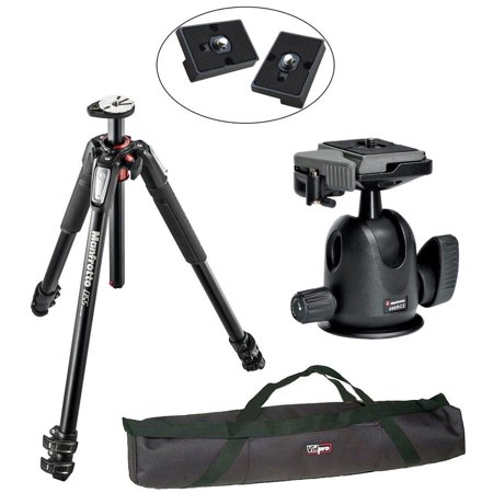 Manfrotto MT055XPRO3/496RC2 Pro Tripod Head Kit, 2 QR Plates and 35 inch Case