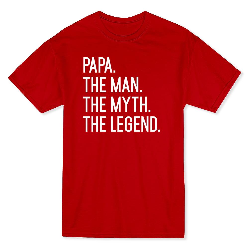 8f2cc17f Papa The Man The Myth The Legend Cool Fathers Day Men's Black T-shirt    Walmart Canada