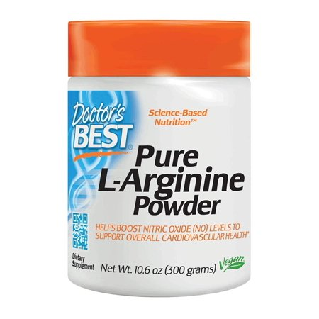 Doctor's Best L-Arginine Powder, Non-GMO, Vegan, Gluten Free, Soy Free, Helps Promote Muscle Growth, 300 Grams, Doctor's Best L-Arginine Powder helps support.., By Doctors