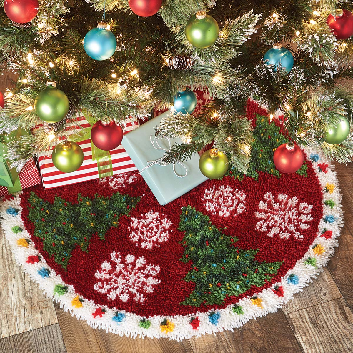 Herrschners® Holiday Trees in the Snow Latch Hook Kit