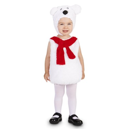 Cozy Polar Bear Child Costume - Size Small (Kids Polar Bear Costume)