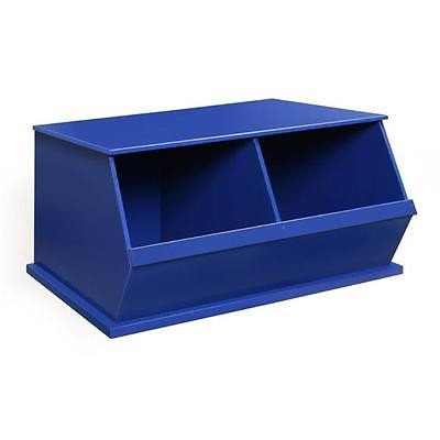 Badger Basket 09771 Two Bin Storage Cubby Blue Home Organizers Istilo108113 by GSS