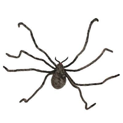 Grey Fuzzy Spider Halloween Decor (Fuzzy Spiders)