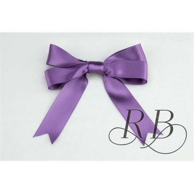 Ribbon Bazaar 8080 2 in. Luxious Satin Ribbon, Amethyst - By The Yard