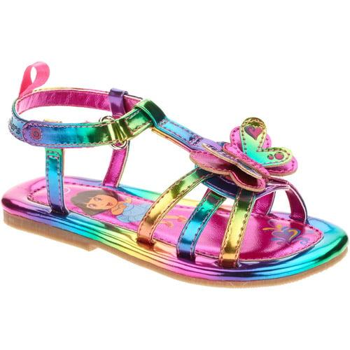 Dora Toddler Girls' Rainbow Butterfly Sandal