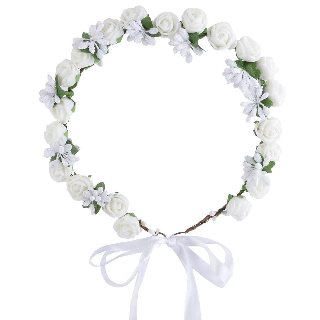 Wedding Travel Foam Crafts Artificial Rose Flower Head Garland Decor