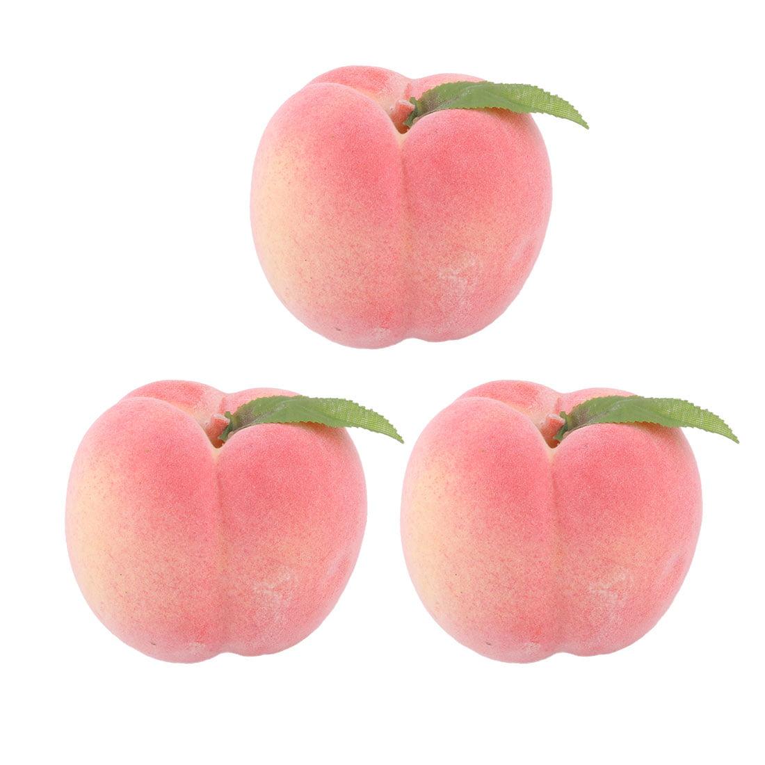 Home Office Decor Foam Lifelike Artificial Emulation Fruit Peach Mold Pink 3pcs