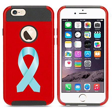 Red Awareness Ribbon (Apple iPhone 5c Shockproof Impact Hard Case Cover Prostate Cancer Awareness Ribbon (Red)