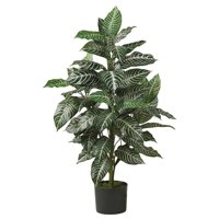 Nearly Natural Artificial 3ft. Zebra Silk Plant, Green