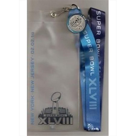 Pro Specialties Group Super Bowl XLVIII 48 Lanyard Ticket Holder and Pin - image 1 of 1