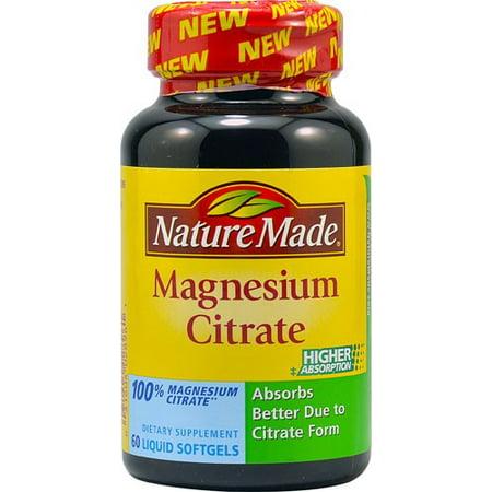 Liquid Magnesium Blend - Nature Made Magnesium Citrate Liquid Softgels - 60 CT