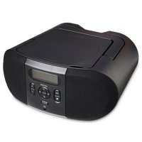 onn. Portable CD Player Boombox, Black