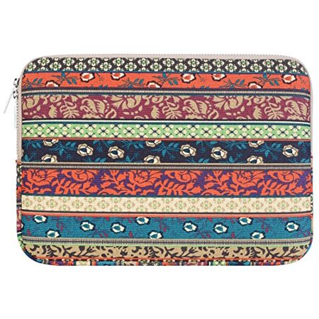 Mosiso Laptop Sleeve Bag for 11-11.6 Inch MacBook Air, Ultrabook Netbook Tablet, Bohemian Style Canvas Fabric Case Cover, Mystic