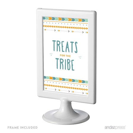 Treats for the Tribe Boho Chic Tribal Birthday Framed Party Signs