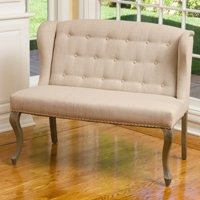 Emily Wingback Settee Bench