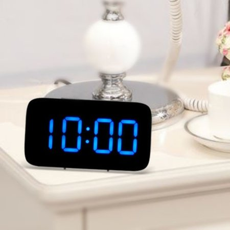 Digital LED Alarm Clock Big Screen Snooze USB/Battery Powered Voice