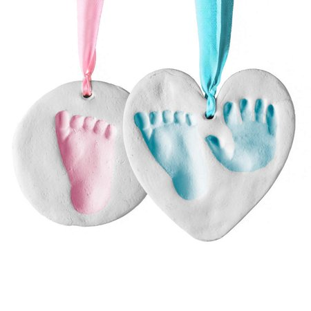 Bubzi Co Baby Handprint & Footprint Clay Ornament Kit for Newborns & Infants, Personalized Keepsake For Baby Nursery Decor, Unique Keepsake For Baby Shower - Great Baby Gift For Baby Registry ()